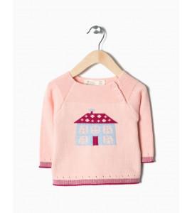 Jersey de punto rosa