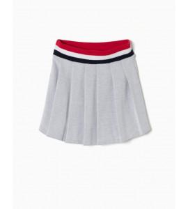 Falda con Pliegues de Algodón