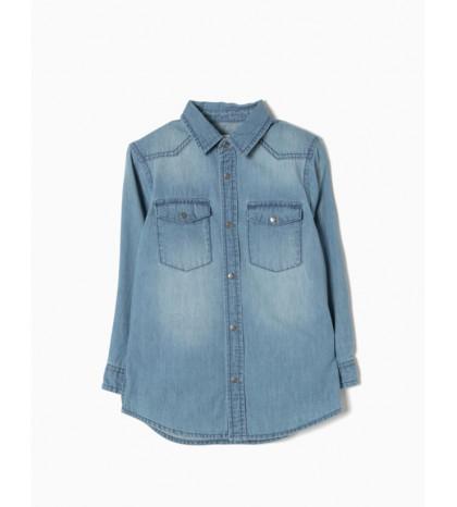 Camisa Vaquera Medium Blue